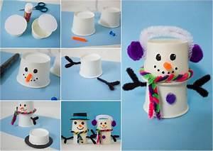 Basteln Winter Kinder : schneemann basteln mit kindern im winter aus verschiedenen materialien ~ Frokenaadalensverden.com Haus und Dekorationen