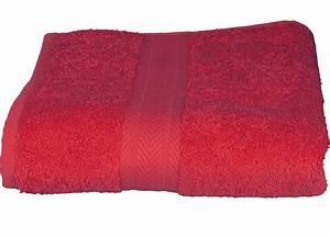 Serviette De Bain : serviette de toilette 50 x 100 cm en coton couleur framboise framboise homemaison vente en ~ Teatrodelosmanantiales.com Idées de Décoration