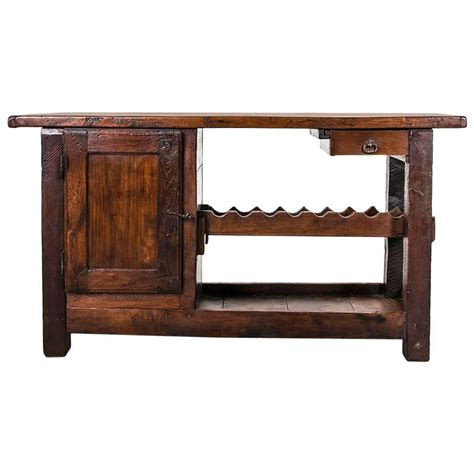 console table with bench rustic antique french carpenter 39 s work bench or console