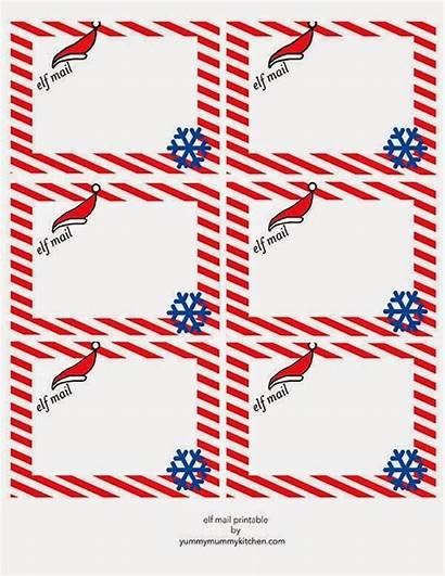 Elf Printable Shelf Letter Christmas Notes Blank