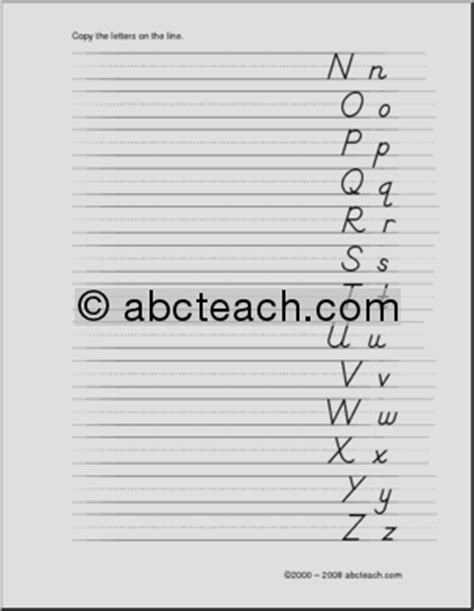 Handwriting Lefthanded Practice Page 0 Abcteach