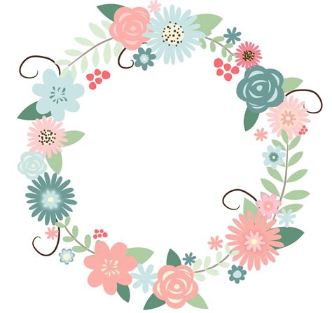 floral wreath clipart clipground