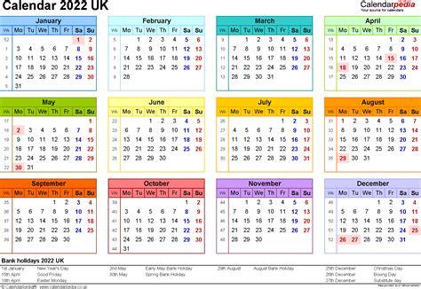 calendar uk printable word templates