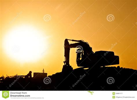 digger  construction site  giant sun royalty