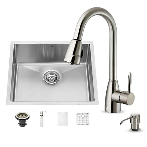 vigo undermount stainless steel kitchen sink vigo all in one undermount stainless steel 23 in 0 9577