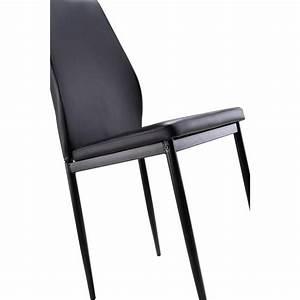 Lot De 6 Chaises Pas Cher : lot de 6 chaises noires raul achat vente chaise salle a manger pas cher couleur et ~ Teatrodelosmanantiales.com Idées de Décoration