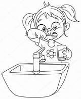 Teeth Brushing Outlined Illustration Vector Coloring Yayayoyo Depositphotos sketch template