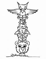 Coloring Totem Pages Poles Pole Adults Popular sketch template