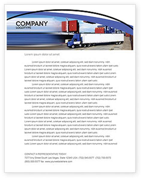 seaport letterhead template layout  microsoft word