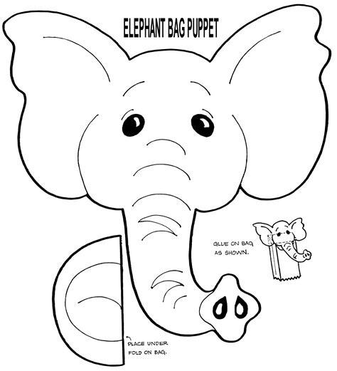 muppet puppet patterns  print elephant puppet