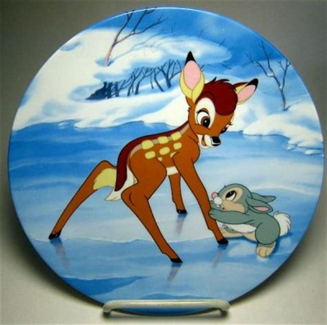 bambis skating lesson decorative plate
