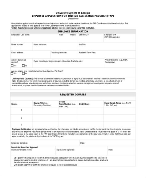 sle employee application form 10 free documents in