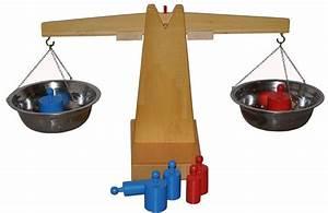 Montessori Wooden Balance Beam Weighing Scale ...