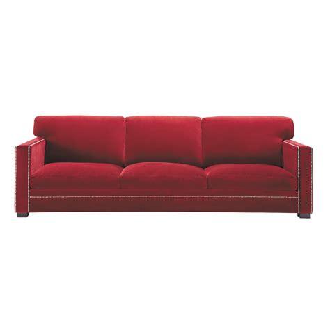sofa 3 plazas terciopelo rojo sof 225 de 4 5 plazas fijo de terciopelo rojo dandy dandy