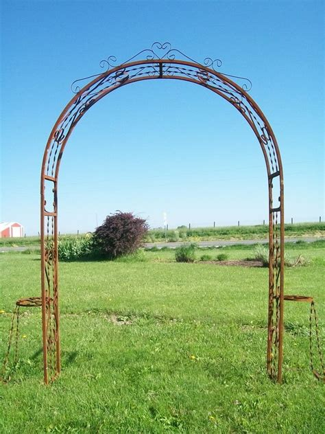 Metal Arch Trellis by Sweetheart Arbor Great For Garden Weddings Metal Arch Ebay
