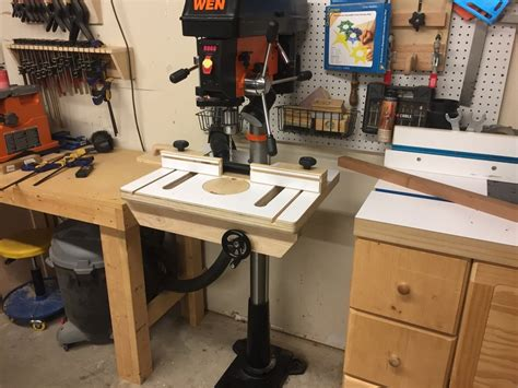 drill press table  fence  txn  lumberjockscom