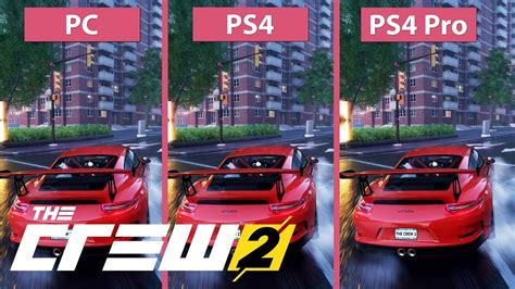 the crew 2 4k the crew 2 pc max vs ps4 vs ps4 pro graphics comparison open beta