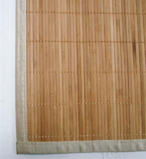 Bamboo Natural Antislip Rubber Back Kitchen Doormat Floor