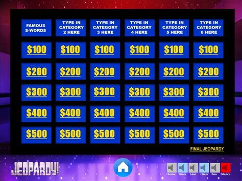 jeopardy powerpoint template   games