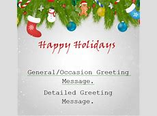 Simple Holiday Greeting Card My Excel Templates