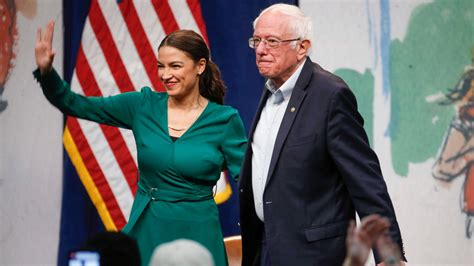 bernie sanders aoc join forces  push green  deal