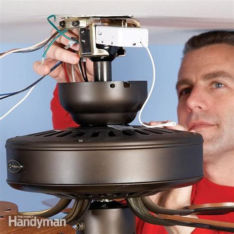 how to install a hunter ceiling fan how to install a ceiling fan remote the family handyman