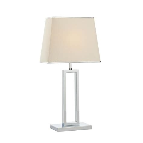 Stiffel Table Lamp Shades by Envoy Env4250 Table Lamp In Polished Chrome With Shade