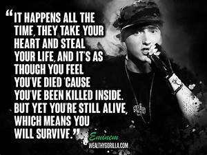 25 Motivational Eminem Picture Lyrics (Quotes) | Wealthy ...