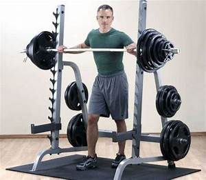 Body Solid Gpr370 Press Rack With Bench And 400 Lb Rubber Coated Weight Set