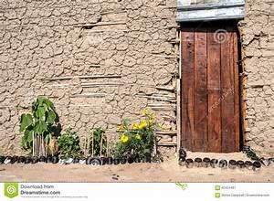 wooden door mud hut africa stock photo image 62424487 With katzennetz balkon mit garde hut