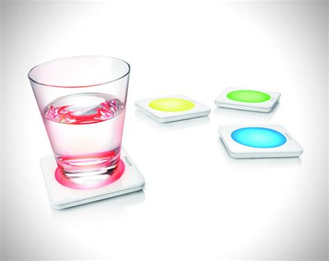philips color changing led drink coasters hiconsumption