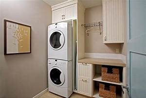 Simplifying remodeling july 2012 for Laundry room cabinets stackable washer dryer