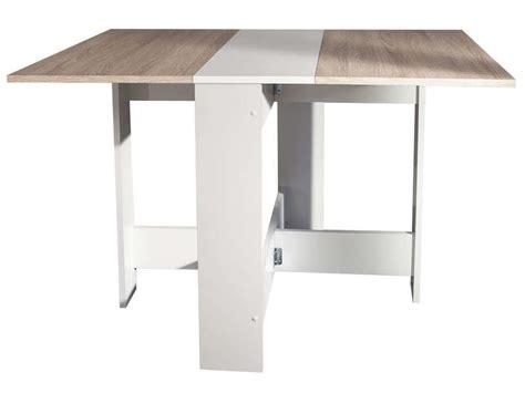 tables de cuisine alinea table de cuisine pliante sishui coloris blanc chêne