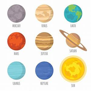 Planets clipart mercury - Pencil and in color planets ...