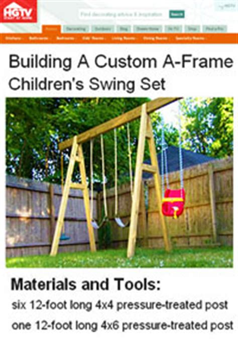 swing set plans   build  swingset