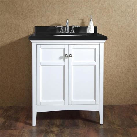 30 White Bathroom Vanity With Top Shop Ove Decors Co White Undermount Single Sink