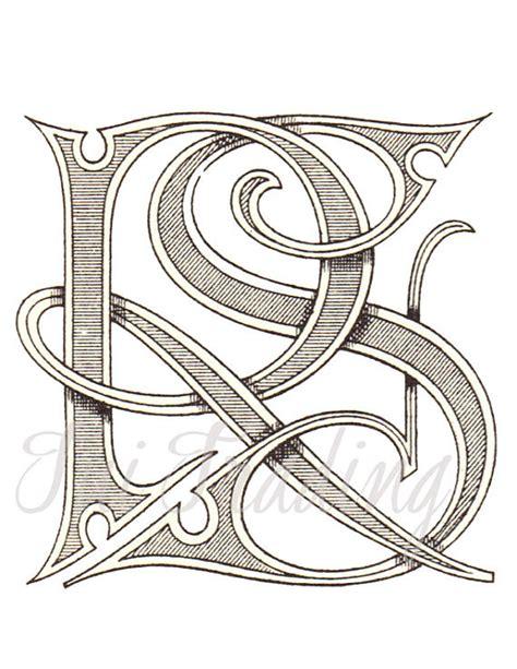 digital stencil rs monogram   logo  letters