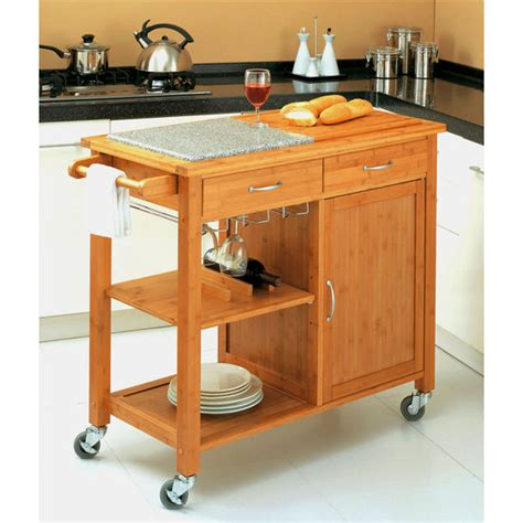 bamboo kitchen island cart kitchen carts kitchen islands work tables and butcher 4305