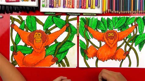 draw  orangutan art  kids hub