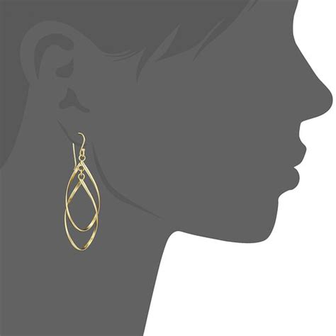personalized gold plating geometric filigree drop earrings