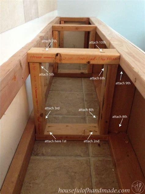 dining room built  bench  storage hometalk