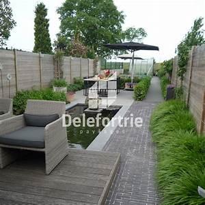 bassin dans terrasse delefortrie paysages With amenagement de terrasse exterieur 6 le domaine du paysage