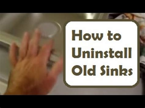 how to remove a kitchen sink sink removal and installation how to disconnect and