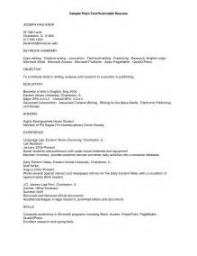 plain text resume format 12 exles of plain fonts images plain text resume exle plain text resume exle and