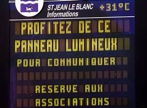 Panneau Lumineux Message : mairie de saint jean le blanc panneau lumineux ~ Teatrodelosmanantiales.com Idées de Décoration