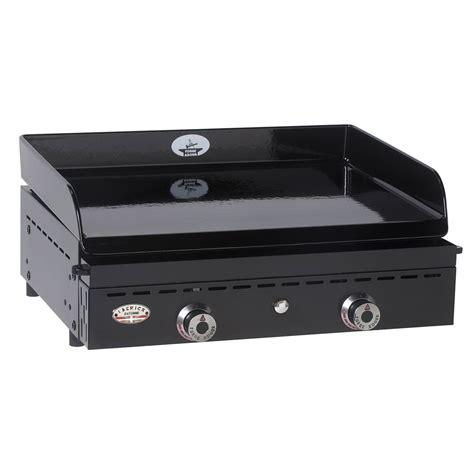 cuisine à la plancha gaz plancha au gaz forge adour iberica 600 emaillee noir