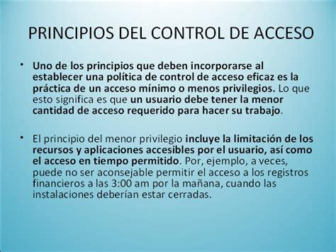administracion del control de accesos adecuado  los