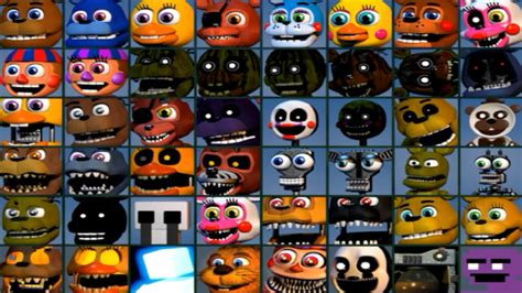 Five Nights At Freddy's World All 48 Characters Unlocked