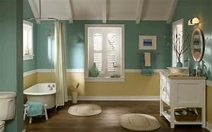 Peinture Murale Blanche : peinture salle de bain 80 photos qui vont vous faire craquer ~ Nature-et-papiers.com Idées de Décoration