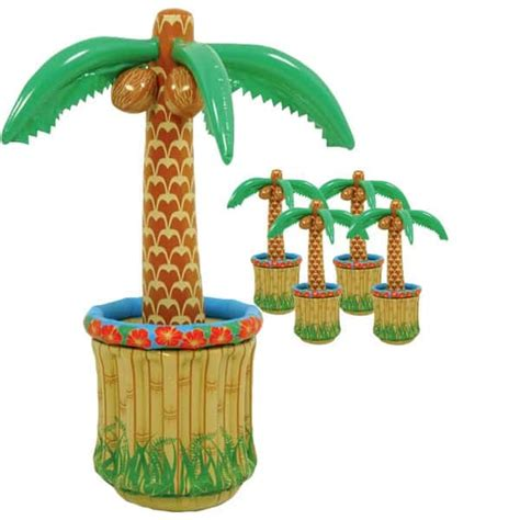table top palm tree 5 x inflatable palm tree table top coolers partyrama co uk